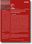 CFAS Climate Finance Guide for COP 22