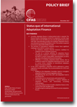 CFAS Policy Brief: Status quo of international Adaptation Finance