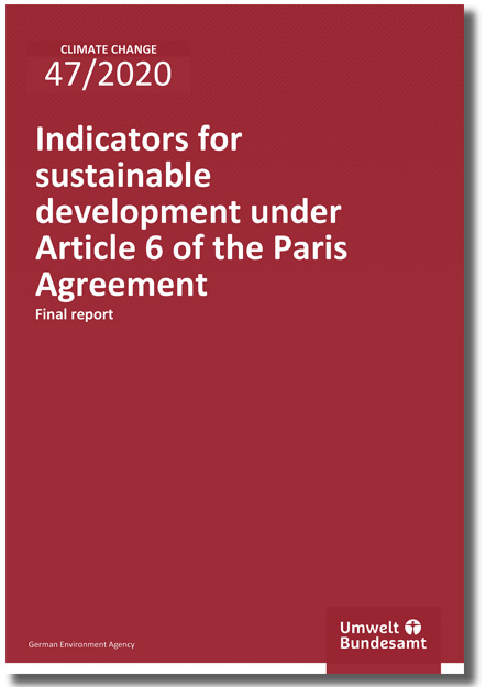 Indicators for sustainable development under Article 6 of the Paris Agreement